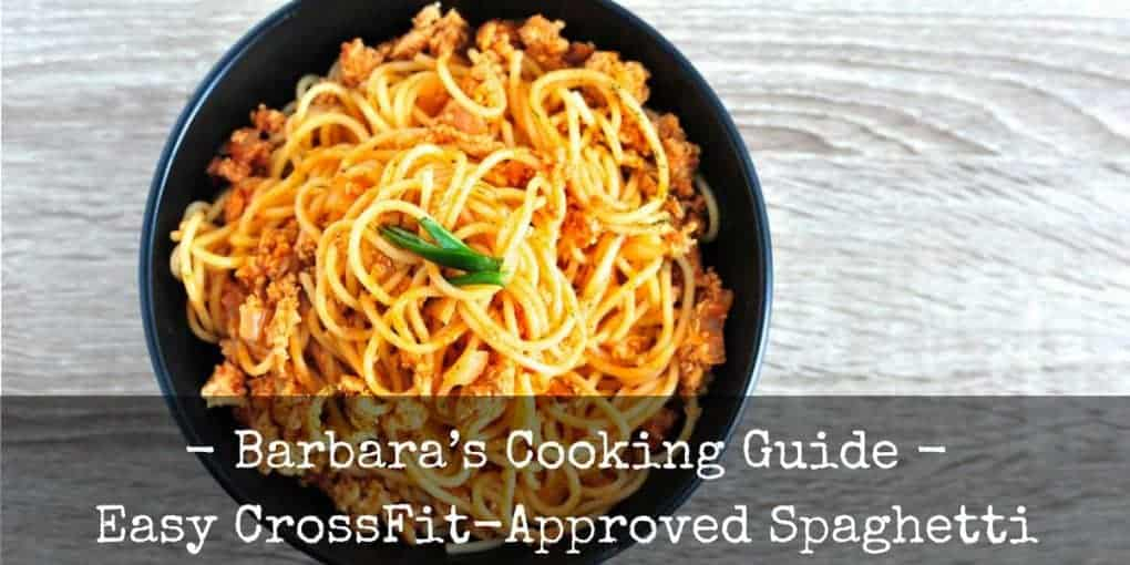 Easy Crossfit Approved Spaghetti Recipe 1020x510
