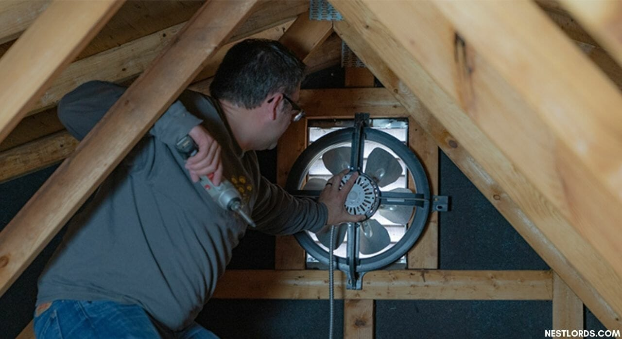 how to use an attic fan