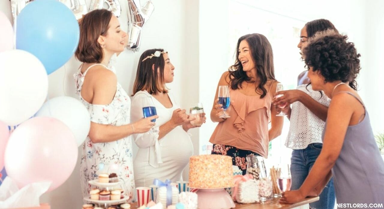 what is the average number of guests at a baby shower