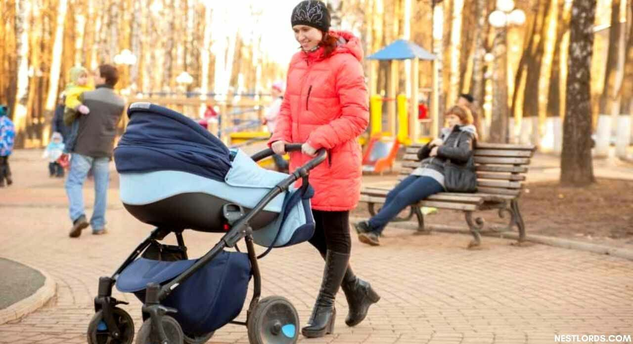 when to put baby in stroller without car seat